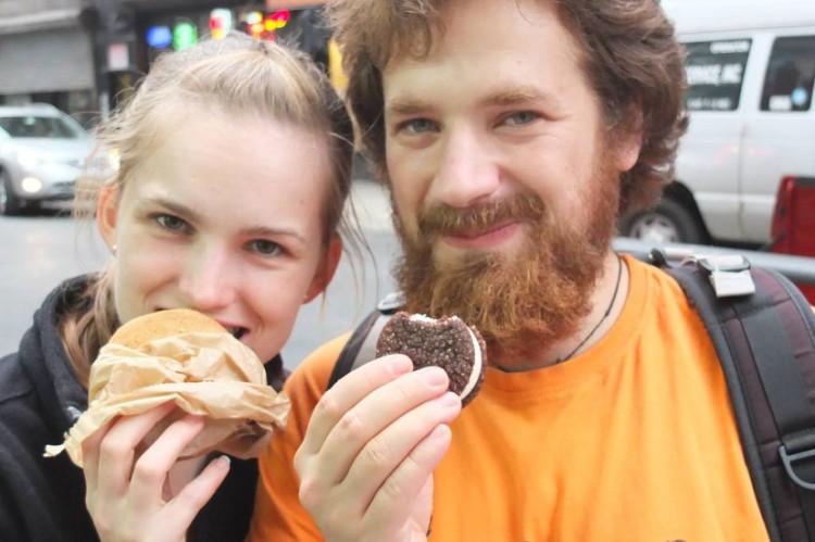 Nowy Jork - lody w formie ciasteczek