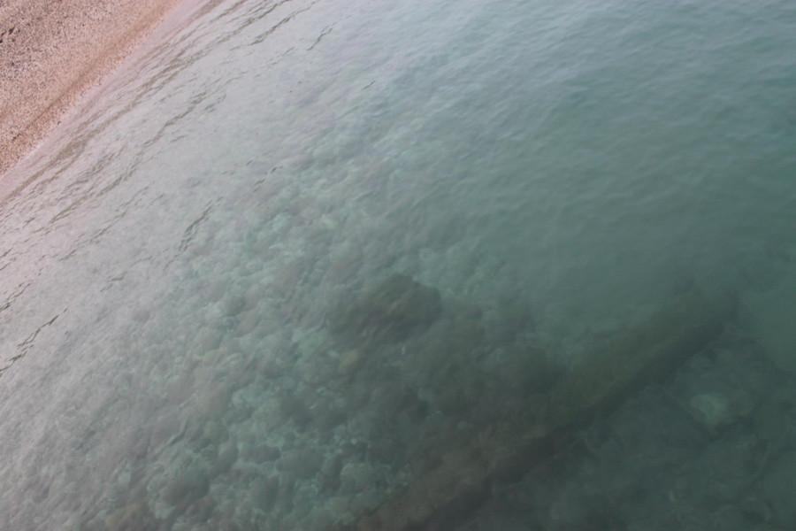 Krystalicznie czyste morskie wody