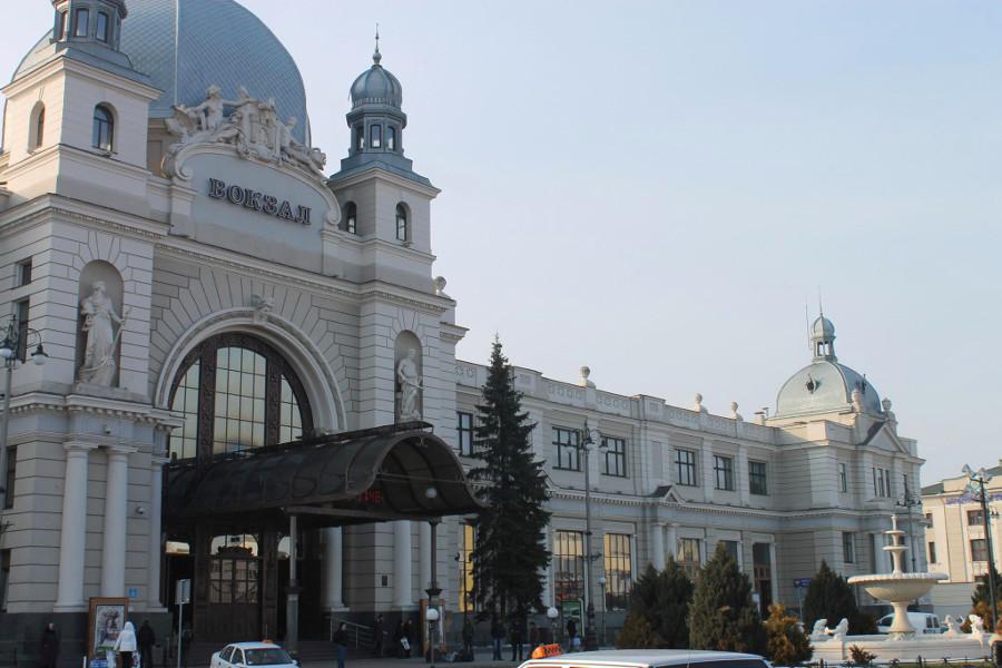 dworzez główny we Lwowie