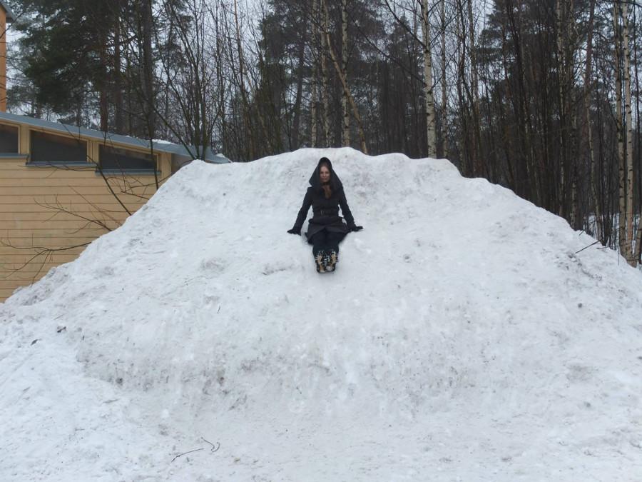 Zamarznięty śniegowy tron