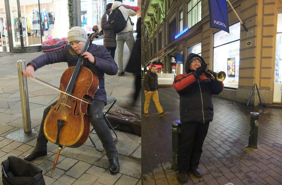 Muzycy w Helsinkach