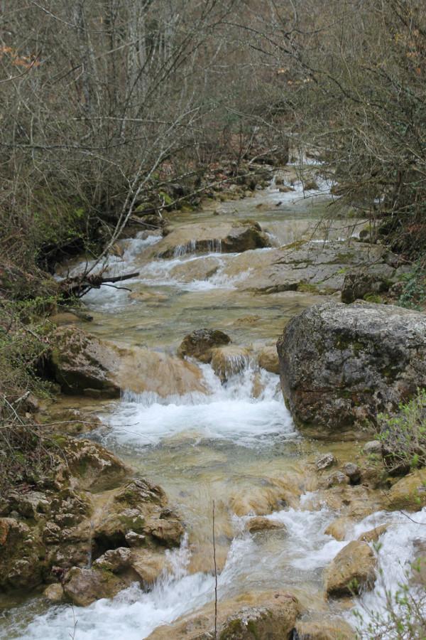 Wartka woda w Wielkim Kanionie na Ukrainie