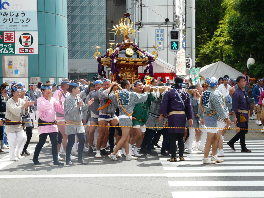A festival in Tokyo
