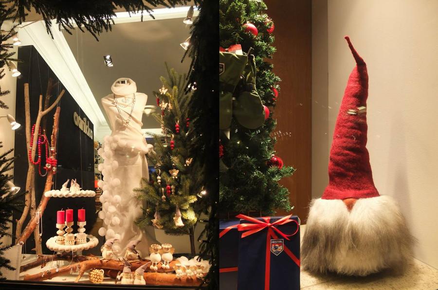 Świąteczne wystawy sklepowe