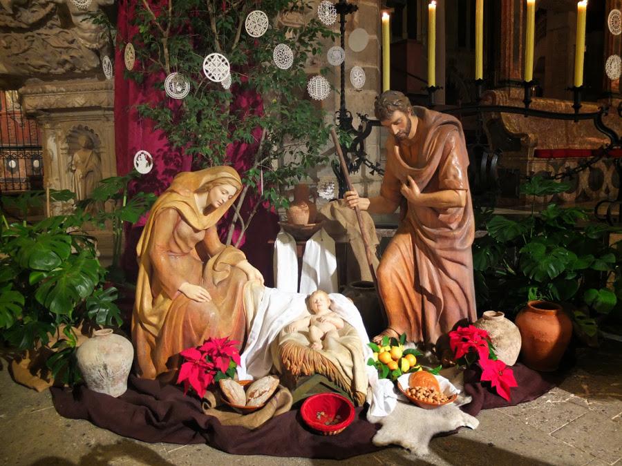 Święta Bożego Narodzenia na Majorce - szopka w Katedrze