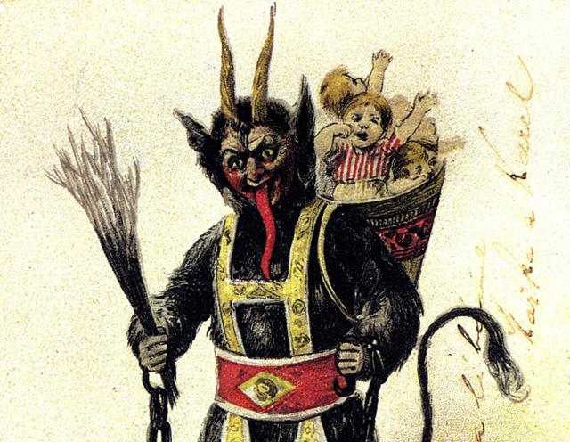 Negatywni bohaterowie Świąt Bożego Narodzenia - Krampus