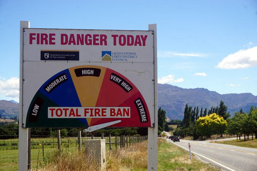 Zagrożenie pożarowe w Nowej Zelandii