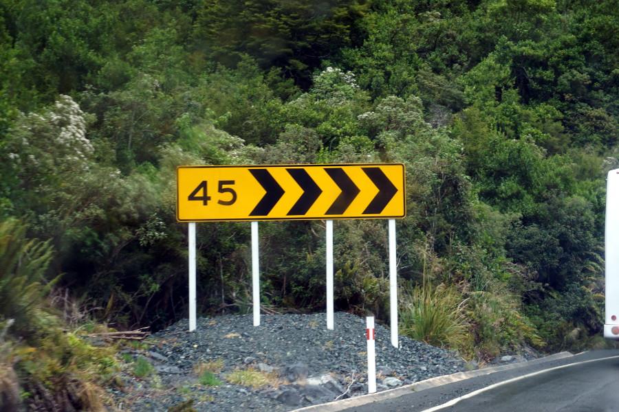 Znaki w Nowej Zelandii