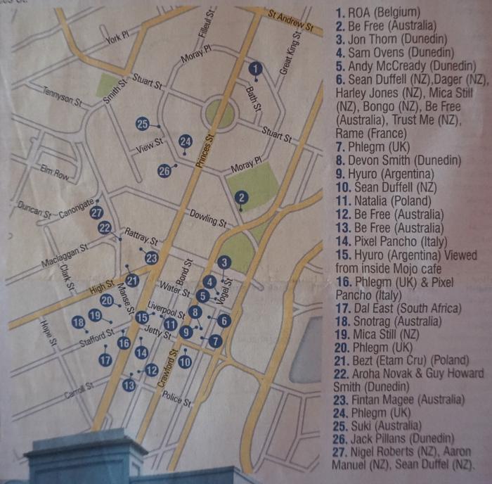 Mapa murali w Dunedin